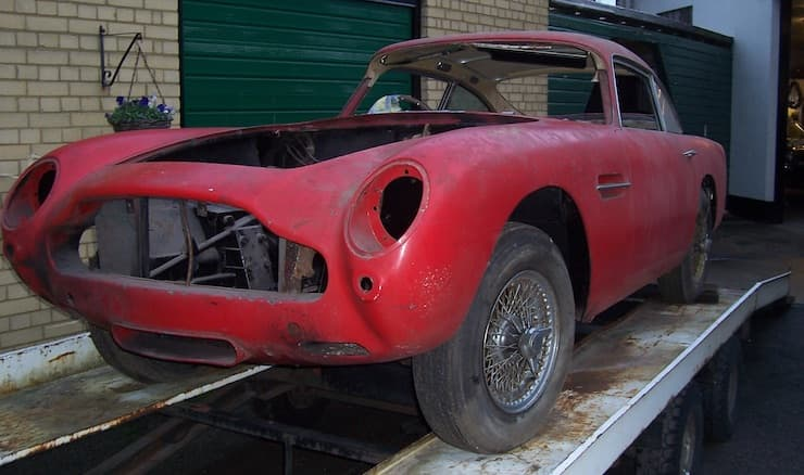 Red DB5 barn find