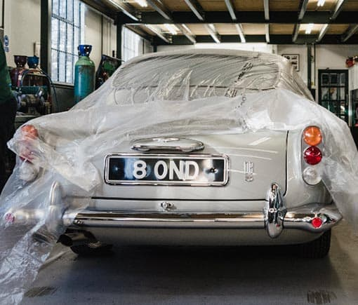 An Aston Martin DB5 converted to a DB5 Vantage